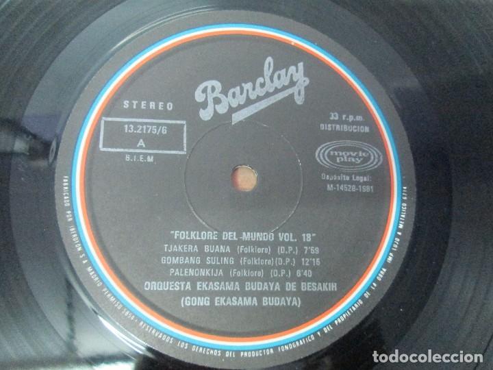 Discos de vinilo: FOLKLORE DEL MUNDO. BALI. LP VINILO. MOVIEPLAY. 1981. VER FOTOGRAFIAS ADJUNTAS - Foto 4 - 95767907