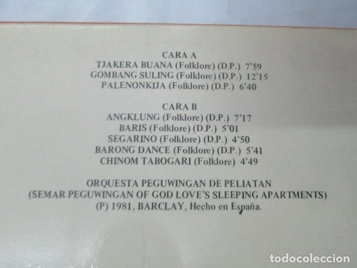 Discos de vinilo: FOLKLORE DEL MUNDO. BALI. LP VINILO. MOVIEPLAY. 1981. VER FOTOGRAFIAS ADJUNTAS - Foto 7 - 95767907