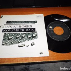 Discos de vinilo: GUNS N´ ROSES NOVEMBER RAIN / SWEET CHILD O´MINE SINGLE VINILO DEL AÑO 1992 HECHO EN ESPAÑA 2 TEMAS. Lote 95768279
