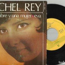 Discos de vinilo: RACHEL REY SINGLE UN HOMBRE Y UNA MUJER.1966. Lote 95769227
