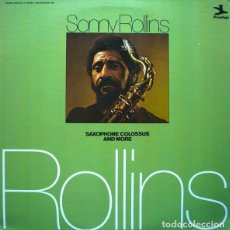 Discos de vinilo: SONNY ROLLINS – SAXOPHONE COLOSSUS AND MORE 1975 PRESTIGE – HB 6013 (ITALY). Lote 95769531