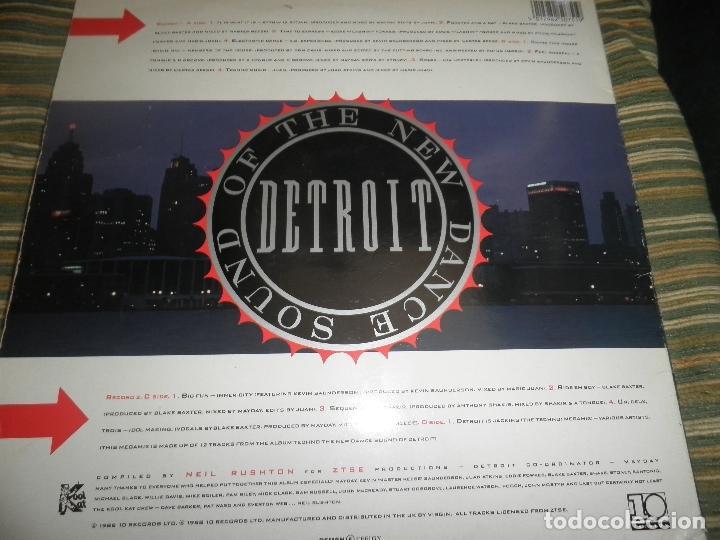 Discos de vinilo: TECHNO THE NEW DANCE SOUND OF DETROIT DOBLE LP - ORIGINAL INGLES - 10 RECORDS 1980 GATEFOLD COVER - - Foto 2 - 95770139
