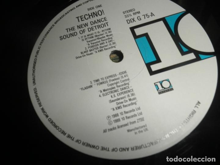 Discos de vinilo: TECHNO THE NEW DANCE SOUND OF DETROIT DOBLE LP - ORIGINAL INGLES - 10 RECORDS 1980 GATEFOLD COVER - - Foto 14 - 95770139