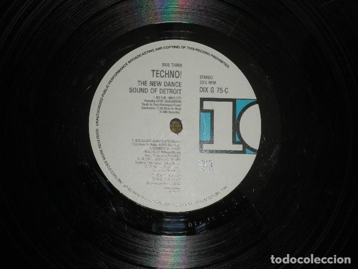 Discos de vinilo: TECHNO THE NEW DANCE SOUND OF DETROIT DOBLE LP - ORIGINAL INGLES - 10 RECORDS 1980 GATEFOLD COVER - - Foto 18 - 95770139