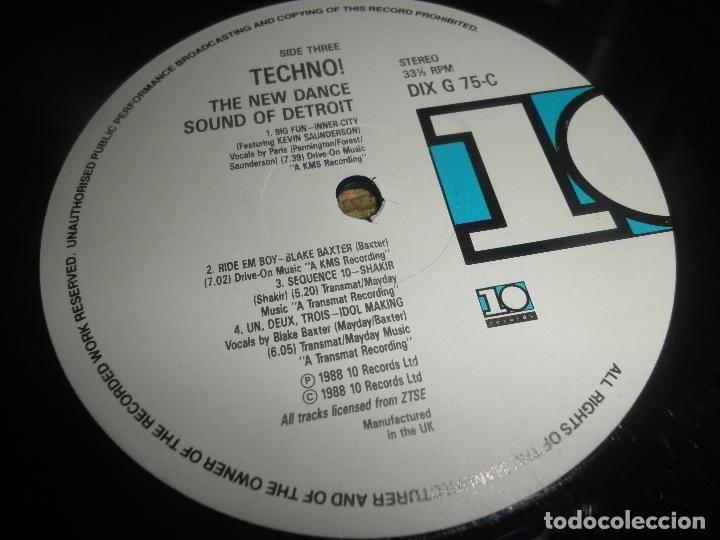 Discos de vinilo: TECHNO THE NEW DANCE SOUND OF DETROIT DOBLE LP - ORIGINAL INGLES - 10 RECORDS 1980 GATEFOLD COVER - - Foto 19 - 95770139