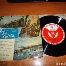 Discos de vinilo: NIÑO DE LA ALEGRIA VOCES DE LA CALETA CANTO A MANUEL VARGAS EP VINILO TELEFUNKEN TRIANGULO CENTRAL. Lote 95770531