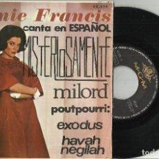Discos de vinilo: CONNIE FRANCIS EP MISTERIOSAMENTE + 3 EP EN ESPAÑOL ESPAÑA 1965 . Lote 95770915