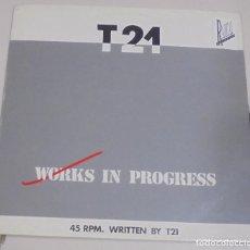 Discos de vinilo: LP. WORKS IN PROGRESS. T21. BRUSELAS. Lote 95788599
