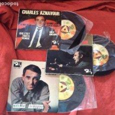 Discos de vinilo: CHARLES AZNAVOUR LOTE SINGLES. Lote 95793043