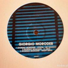 Discos de vinilo: GIORGIO MORODER – ELECTRONIC DANCEFLOOR CLASSICS 1 DISCO 1. Lote 95796051