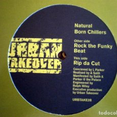 Discos de vinilo: NATURAL BORN CHILLERS – ROCK THE FUNKY BEAT DRUM N BASS . Lote 95796471