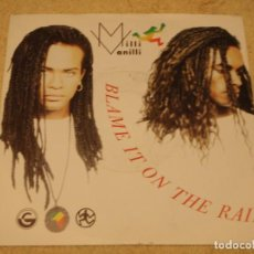 Discos de vinilo: MILLI VANILLI ( BLAME IT ON THE RAIN - MONEY(REMIX) ) 1989 - ENGLAND SINGLE45 COOLTEMPO. Lote 95801295