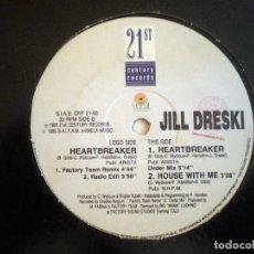 Discos de vinilo: JILL DRESKI – HEARTBREAKER ITALO. Lote 95810727