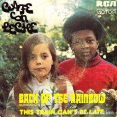 Discos de vinilo: SINGLE CAFE CON LECHE BACK OF THE RAINBOW LISTEN! 45 SINGLE SPANISH 1974. Lote 95824923