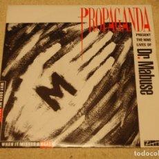 Discos de vinilo: PROPAGANDA ( THE NINE LIVES OF DR. MABUSE ) ENGLAND-1984 SINGLE45 ISLAND RECORDS. Lote 95828319
