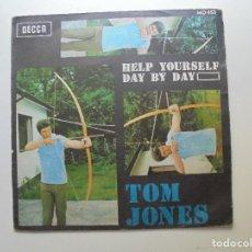 Discos de vinilo: TOM JONES ''HELP YOURSELF'' AÑO 1968 VINILO DE 7'' ES UN SINGLE DE DOS CANCIONES. Lote 95836763