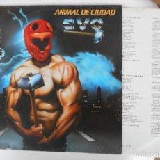 Discos de vinilo: EVO-LP ANIMAL DE CIUDAD-ENCARTE LETRAS 1983. Lote 95866299