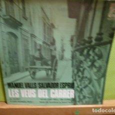 Discos de vinilo: LES VEUS DEL CARRER -SALVADOR ESPRIU-MANUEL VALLS RECITAT POR JORDI TORRAS . Lote 95871423