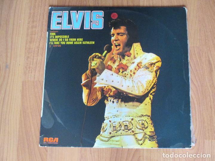 ELVIS PRESLEY - ELVIS - RCA - SPAIN - T - (Música - Discos - LP Vinilo - Rock & Roll)