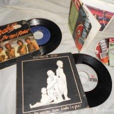Discos de vinilo: LOTE SINGLES +CD LIBRO BARRABAS GLUTAMATO YE-YÉ COZ TEQUILA BURNING MAMÁ ASFALTO MORIS LA MODE. Lote 95879543