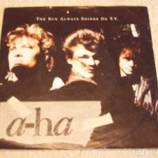 Discos de vinilo: A-HA ( THE SUN ALWAYS SHINES ON T.V. - DRIFTWOOD ) 1985 - GERMANY SINGLE45 WARNER BROS RECORD. Lote 95880123