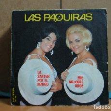 Discos de vinilo: LAS PAQUIRAS - LA SARTEN POR EL MANGO / MIS MEJORES AÑOS - BELTER 08-266 - 1973. Lote 95885271