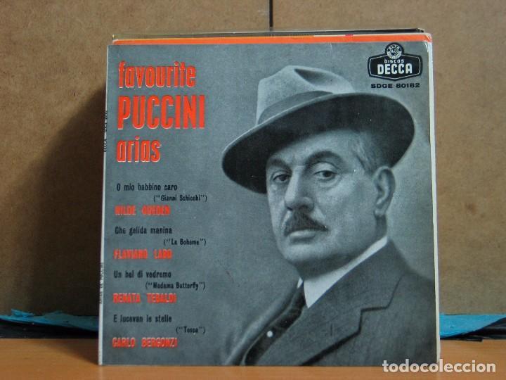 PUCCINI - ARIAS DE PUCCINI (FAVOURITE PUCCINI ARIAS) - DECCA SDGE 60182 - 1959 (Música - Discos de Vinilo - EPs - Clásica, Ópera, Zarzuela y Marchas)