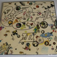 Discos de vinilo: LED ZEPPELIN LP III 1970 ATLANTIC ALEMANIA 1973 DESPLEGABLE CON ROTACIÓN GIMMIX. Lote 95888083