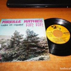 Discos de vinilo: MIREILLE MATHIEU RIN RIN CANTA EN ESPAÑOL EP VINILO 1968 ESPAÑA CONTIENE 4 TEMAS. Lote 95888851
