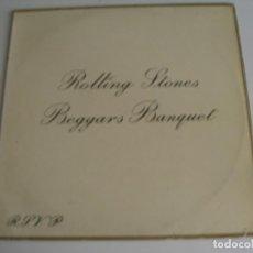 Discos de vinilo: THE ROLLING STONES LP BEGGARS BANQUET DECCA ORIGINAL ESPAÑA 1970 DESPLEGABLE . Lote 95889187