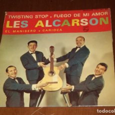 Discos de vinilo: LES ALCARSON-EP- TWISTING STOP+ 3-FRANCE PHILIPS. Lote 95891759