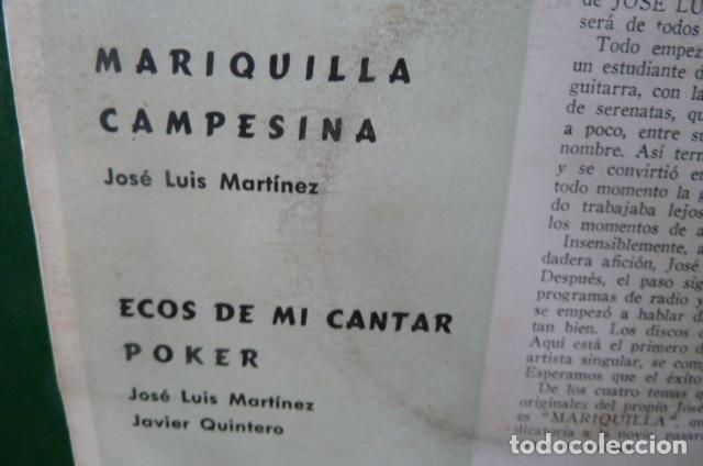 Discos de vinilo: jose luis y su guitarra -mariquilla -y 3 mas vinilo amarillo - Foto 2 - 95892407