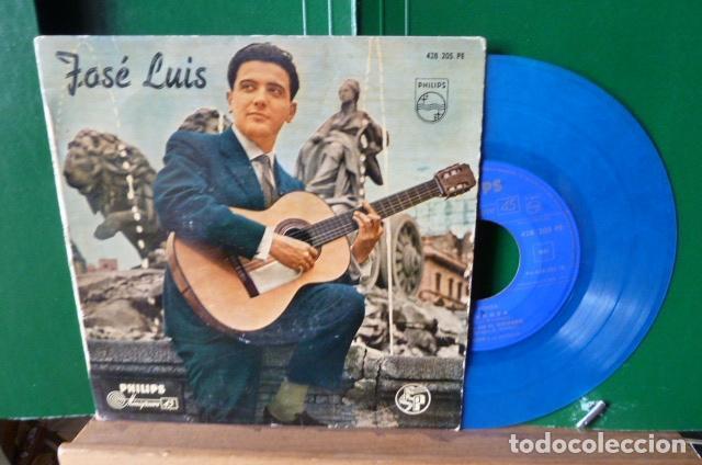 JOSE LUIS Y SU GUITARRA -MI RONDA -Y 3 MAS VINILO AZUL (Música - Discos de Vinilo - EPs - Solistas Españoles de los 50 y 60)