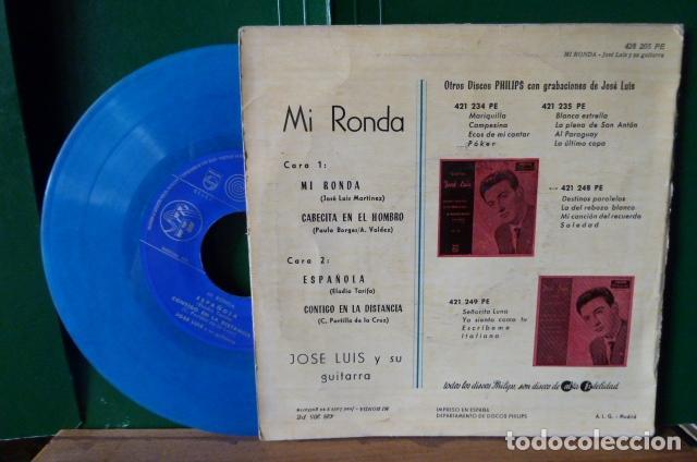 Discos de vinilo: jose luis y su guitarra -mi ronda -y 3 mas vinilo azul - Foto 3 - 95892659