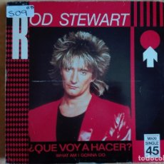 Discos de vinilo: MAXI - ROD STEWART - WHAT AM I GONNA DO/DANCIN ALONE/SAILING (PROMO ESPAÑOL, WB RECORDS 1983). Lote 95893099