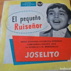 Discos de vinilo: JOSELITO, EL PEQUEÑO RUISEÑOR - CAMPANERA/ GALOPA JACA + 4 - EP 196?. Lote 95894151