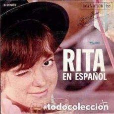 Discos de vinilo: RITA PAVONE – RITA EN ESPAÑOL - EP SPAIN 1966. Lote 95894415