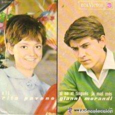 Discos de vinilo: RITA PAVONE , GIANNI MORAND, JIMMY FONTANA .DONATELLA MORETTI - EP RCA VICTOR SPAIN 1965. Lote 95894567