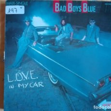 Discos de vinilo: MAXI - BAD BOYS BLUE - LOVE IN MY CAR / CAR CRASH (SPAIN, ZAFIRO 1985). Lote 95896415