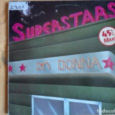 Discos de vinilo: MAXI - SUPERSTARS ON DONNA - MEDLEY BY DONNA SUMMER / HOT SUMMER MIX. Lote 95896959