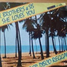 Discos de vinilo: SINGLE (VINILO) DE T. BROTHERS & SIS AÑOS 70. Lote 95899599