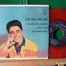 Discos de vinilo: SACHA DISTEL -QUI ,QUI,QUI,-Y 3 MAS VINILO ROJO. Lote 95902131