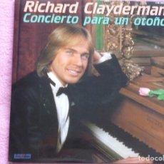 Discos de vinilo: RICHARD CLAYDERMAN,CONCIERTO PARA UN OTOÑO DEL 81 DOBLE LP. Lote 95927431