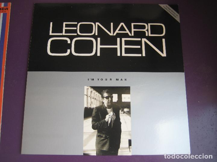 LEONARD COHEN LP CBS 1988 - I'M YOUR MAN - POESIA FOLK - DYLAN (Música - Discos - LP Vinilo - Cantautores Extranjeros)