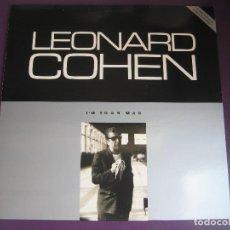 Discos de vinilo: LEONARD COHEN LP CBS 1988 - I'M YOUR MAN - POESIA FOLK - DYLAN. Lote 95928203