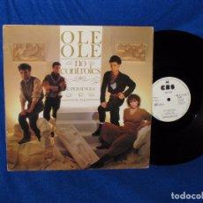 Discos de vinilo: OLE OLE - NO CONTROLES - MAXISINGLE 33'' 45 RPM - EDICION PROMOCIONAL LABEL BLANCO 1983 - MUY RARO. Lote 95939047