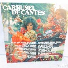 Discos de vinilo: CARRUSEL DE CANTES. LP VINILO. BELTER 1974. VER FOTOGRAFIAS ADJUNTAS. Lote 95940287