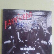 Discos de vinilo: VINILO ORIGINAL. BARRICADA. NOCHE DE ROCK N ROLL. FIRMADO POR EL GRUPO. AÑO 1983. Lote 95940959