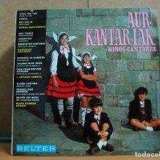 Discos de vinilo: MANUEL URBIETA / MARGARITA AZPITARTE / IZASKUN ECHAVE - AUR KANTARIAK - BELTER 22.341 - 1969. Lote 95943399
