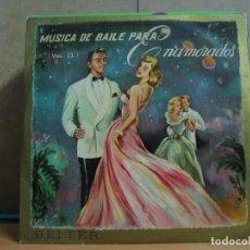 Discos de vinilo: LOS ASERICANOS / CATHERINE ZAGO / JIMMY CARROLL Y MAS - MÚSICA DE BAILE PARA ENAMORADOS VOLUMEN II. Lote 95944687
